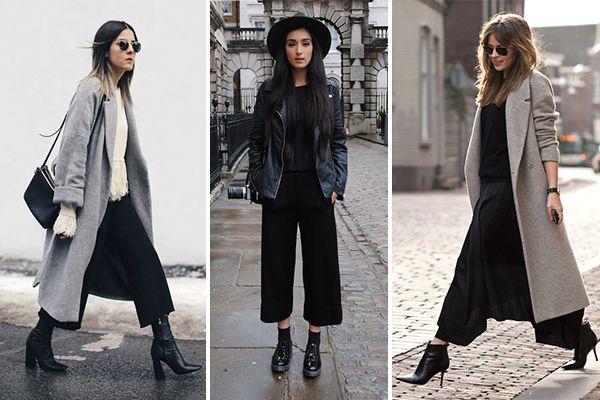 Cómo combinar un culotte en invierno: Botas y botines