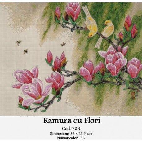 Comanda goblen Ramura cu flori http://set-goblen.ro/flori/3970-ramura-cu-flori.html
