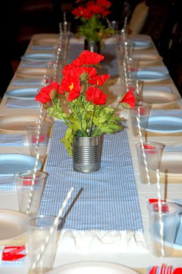 restlessrisa: WIZARD OF OZ party, Part 6 - The Decor (Dinner Table)