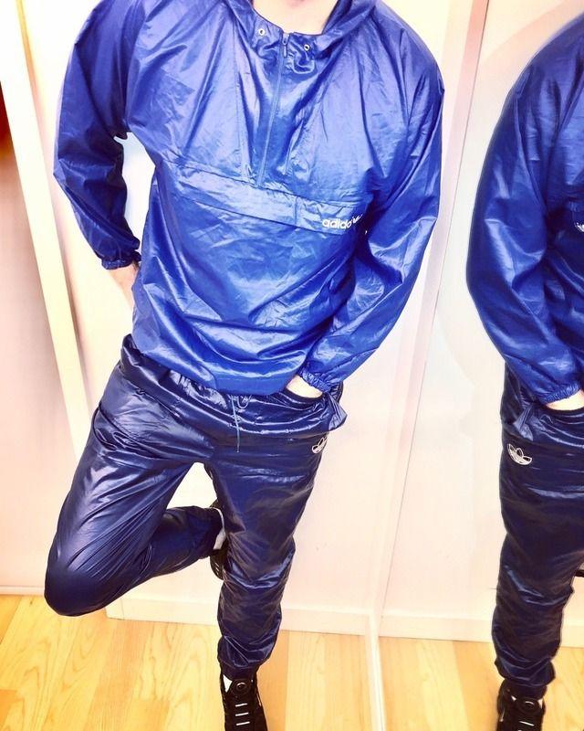adidas pu pvc suit jacken