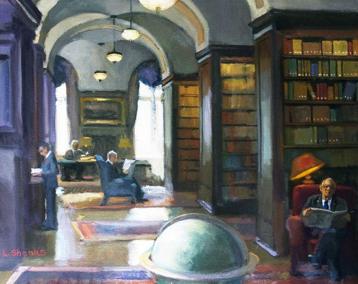 9 Best Interior Motives Studio Incamminati Artists Paint Intimate Spaces Of Union League Of