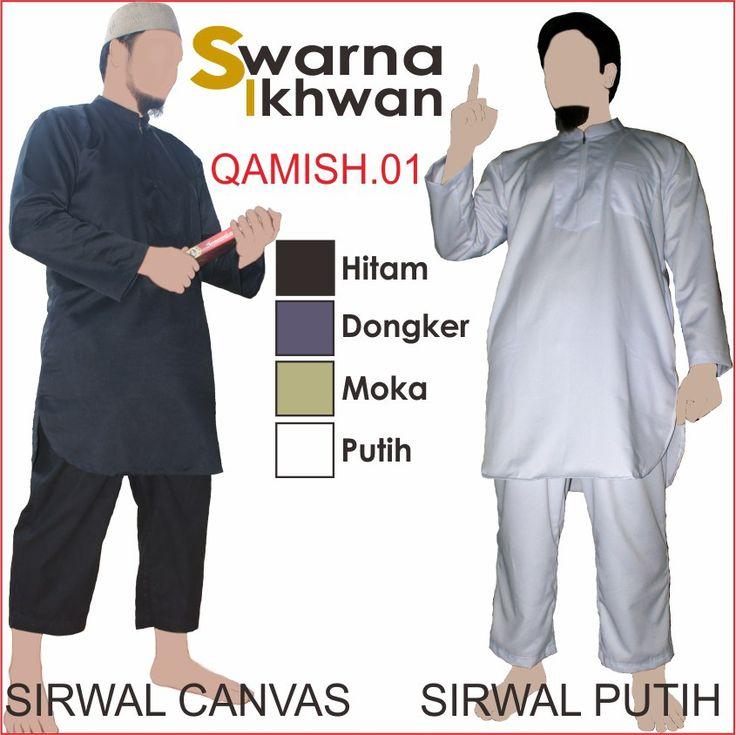 Stelan Baju Gamis Swarna Ikhwan Baju Muslim Pria Setelan Qamis01