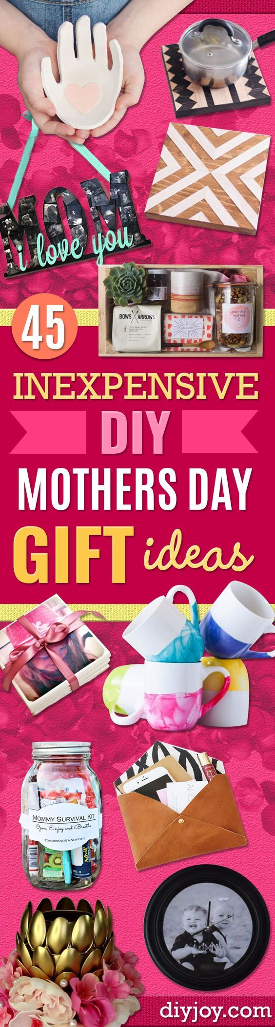 DIY Mothers Day Gift Ideas - Homemade Gifts for Moms - Crafts and Do It Yourself Home Decor, Accessories and Fashion To Make For Mom - Mothers Love Handmade Presents on Mother's Day - DIY Projects and Crafts by DIY JOY http://diyjoy.com/diy-mothers-day-gifts