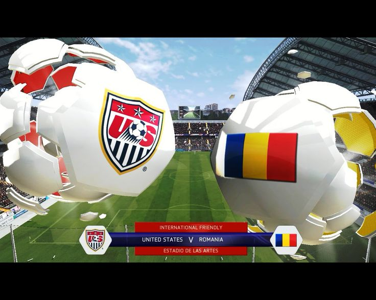 FIFA 14 United States vs Romania , a nice and clean game :)