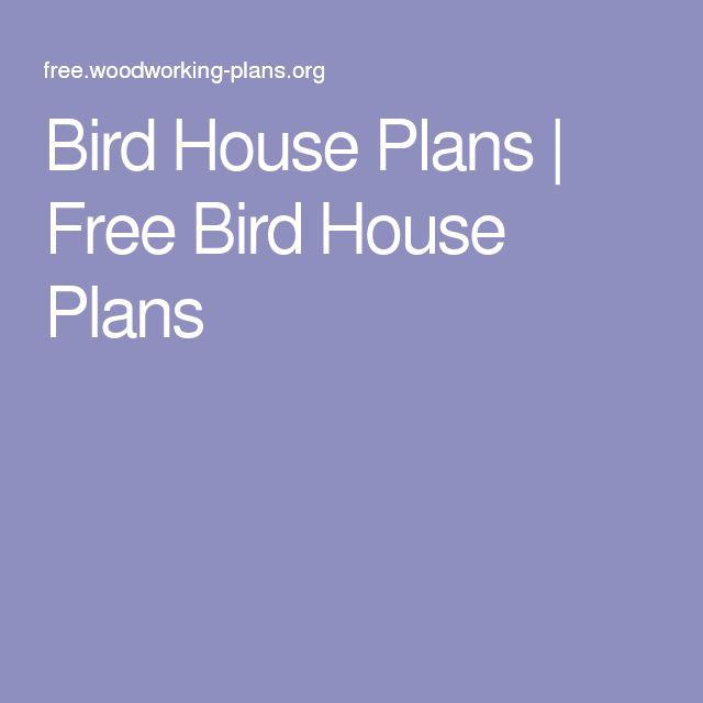 Bird House Plans | Free Bird House Plans