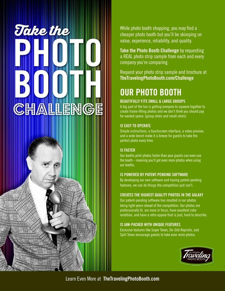 A few of the reasons why The Traveling Photo Booth is the best!