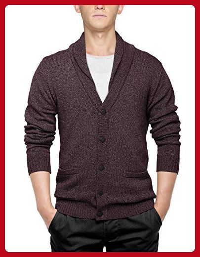 Match Men's Sweater Series Shawl Collar Cardigan (US XL (Tag size 3XL), 1611 Claret) - Mens world (*Amazon Partner-Link)