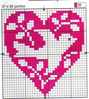 Artes da Nique: Esquemas Punto de Cruz – Corazón