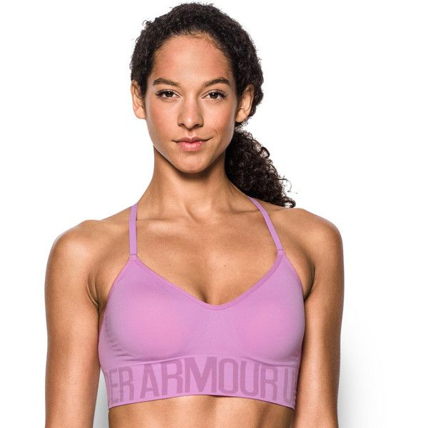 Under Armour Bras: Seamless Solid Low-Impact Sports Bra 1275923 ($35) ❤ liked on Polyvore featuring activewear, sports bras, beige over, yoga pullover, adjustable sports bra, under armour sportswear, low impact sports bra and strappy sports bras