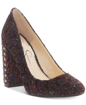 52d7e92177 Jessica Simpson Bainer Block-Heel Pumps - Women's Shoes | Pumps and ...