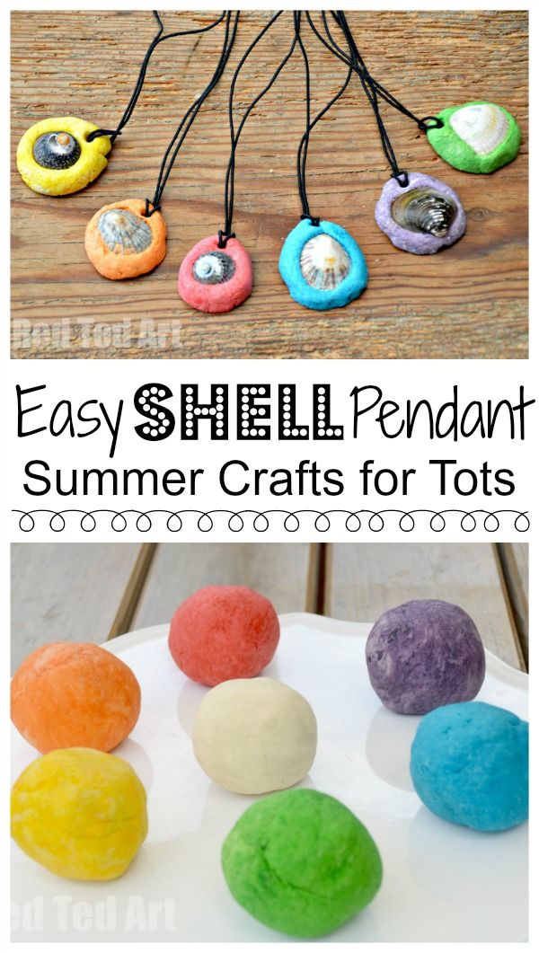 Easy Shell Pendants. These are such easy and sweet and inexpensive shell pendants to make this summer. A wonderful summer craft for preschoolers, that make a great summer keepsake and is inexpensive and fun to make. Great little Mother's Day gift idea too. Love this darling shell craft for kids.