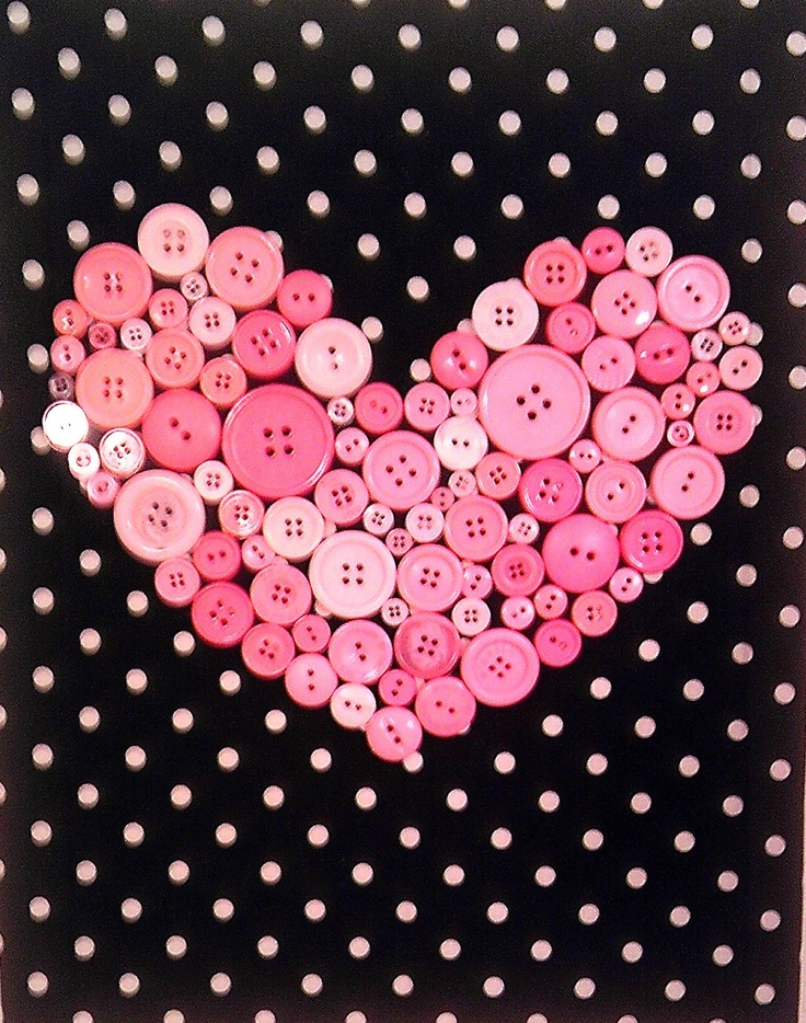 "11"" by 14"" Button Heart Wall Decor. $25.00, via Etsy."