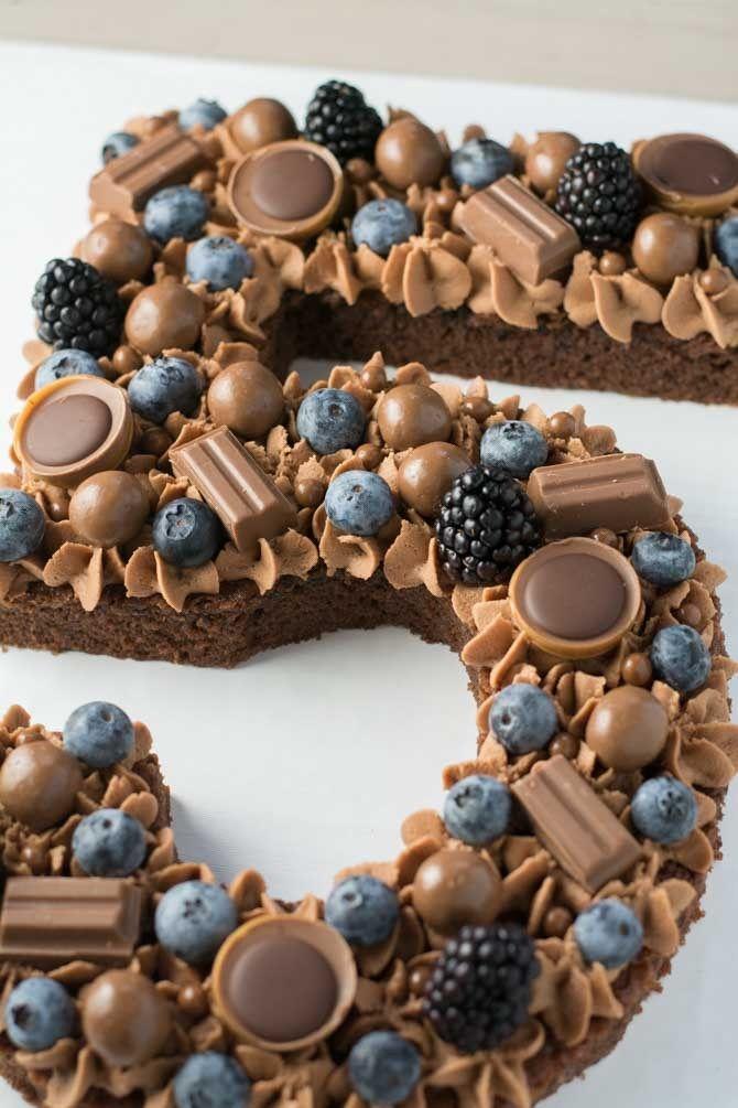Tal kage med blåbær og chokolade – Kuchen