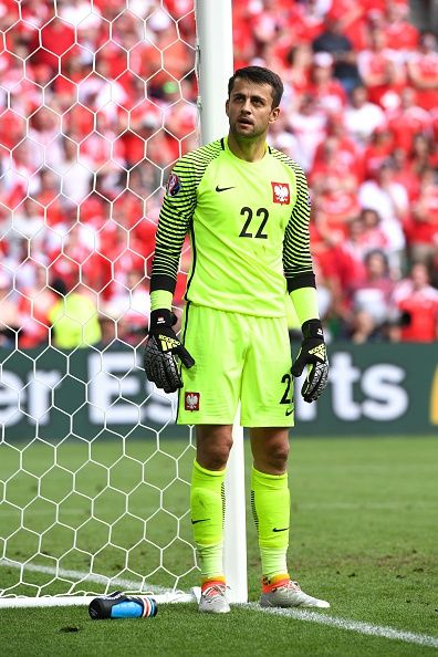 #EURO2016 Lukasz FABIANSKI of Poland during the European Championship match Round of 16 between Switzerland and Poland at Stade GeoffroyGuichard on June 25...