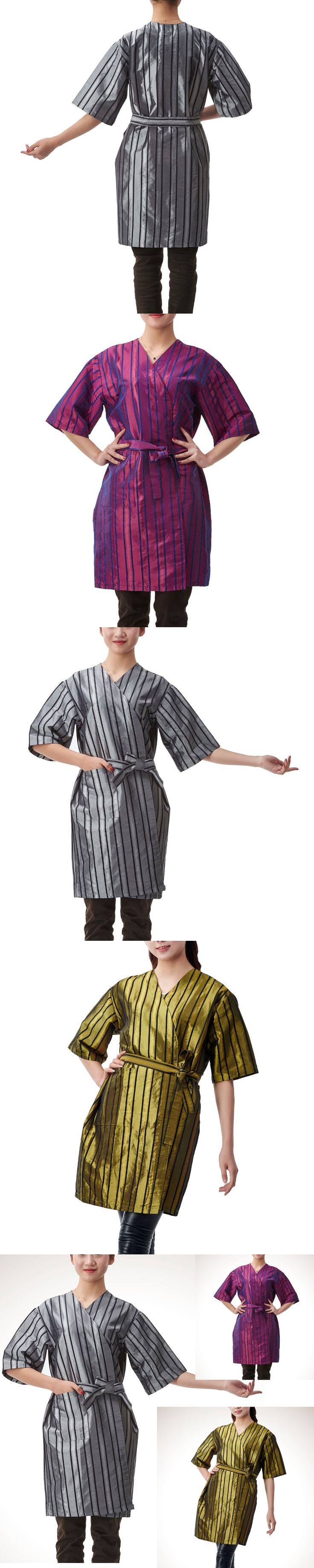1pcs Professional Hairdressing Kimono Beauty SPA Gown Robe Hair Capes Stripes Styling Barber Salon Hairdresser Wrap Cloth
