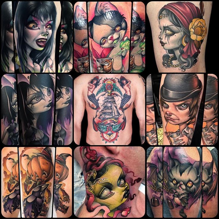 Forgot to post this yesterday. Just a few of the tattoos I got to do this year. Thanks to everyone who trusted me with their skin.  I'm definitely hoping for more goblins and trolls and elves and fairy tale and folklore tattoos for 2017. Let's go full dork, you guys. @helheimgallery #helheimgallery #salem #salemma @spikeinkmaster #inkmaster #inkmasterseason8 @quickcaps #quickcaps @kingpintattoosupply #kingpintattoosupply @heliostattoo #heliostattooneedles @truetubes #truegrips @eternalink…