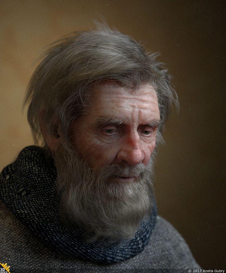 Пожилой человек — Компьютерная графика и анимация — Render.ru
