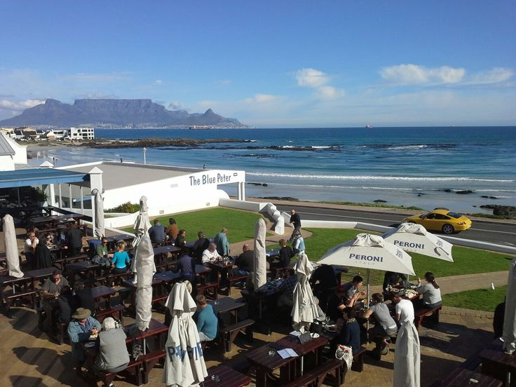Blue Peter restaurant and Hotel, Blouberg beach, Cape Town, Western Cape province, South Africa