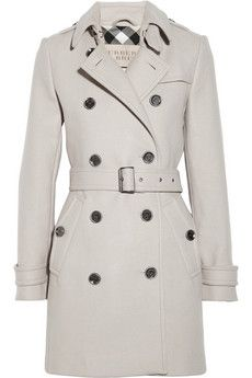 ++ Double-breasted wool-blend coat