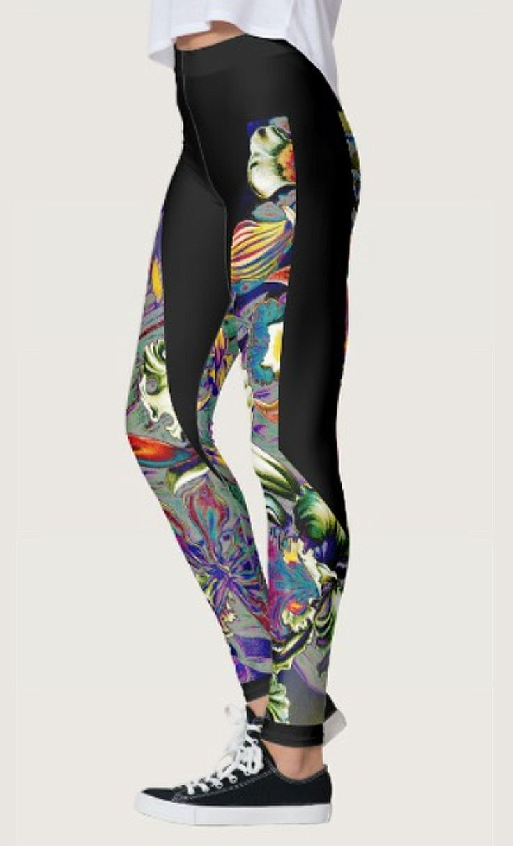 Psychedelic Orchid Leggings by NDGRags on Zazzle. Lovely.
