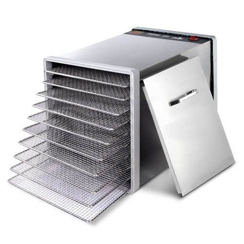 10 Trays Stainless Steel Food Dehydrator Commercial Quality Fruit Jerky Dryer