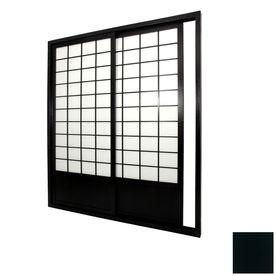 Oriental Furniture 2 Panel Black Indoor Privacy Screen