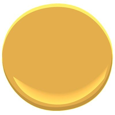 """Lovely rich toned Benjamin Moore """"Glen Ridge Gold"""" paint color - for craft room?"""
