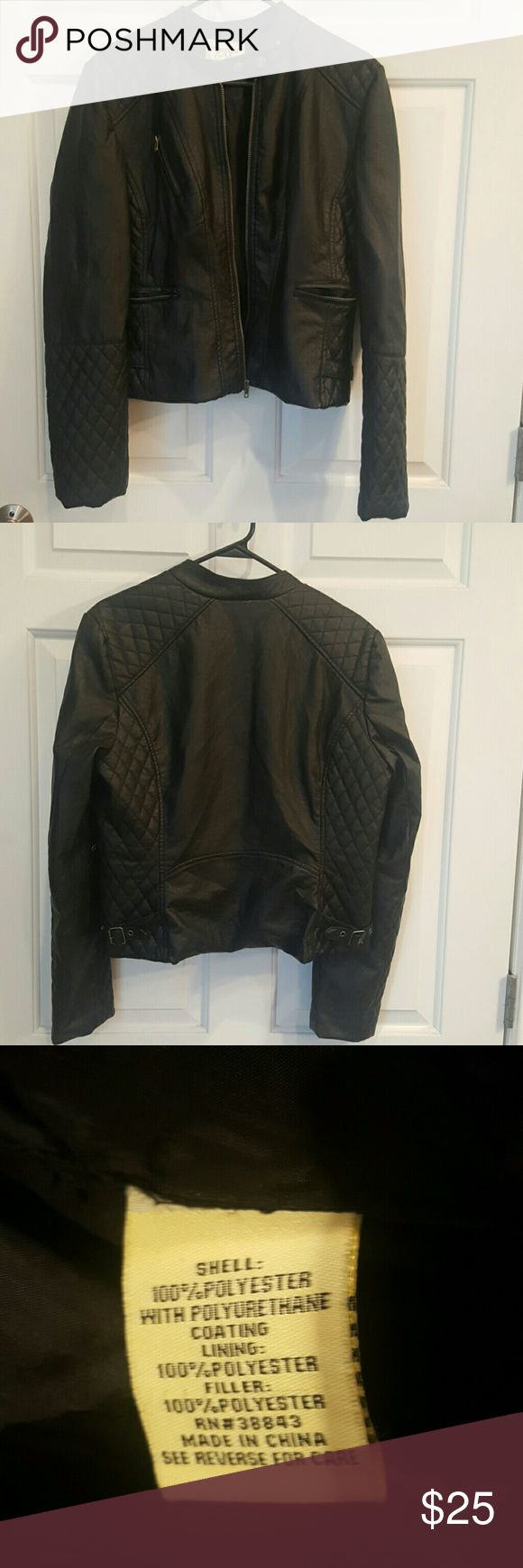 Super cute leather jacket! Stylish leather like jacket, bought a macys. Great with jeans,or a cute dress Maralyn & Me Jackets & Coats