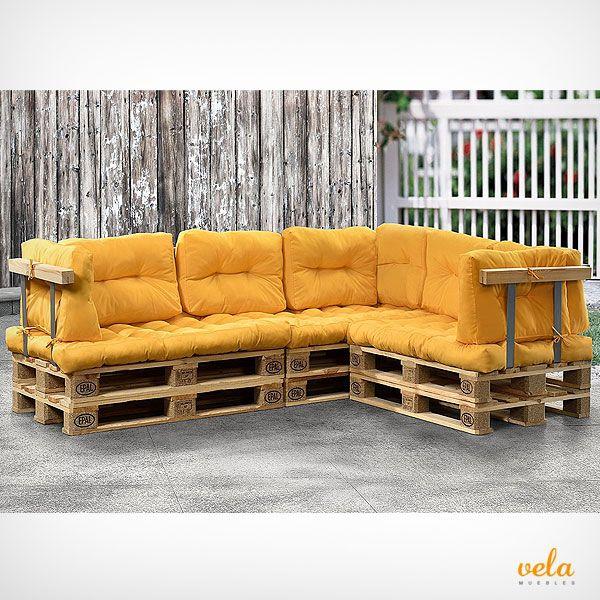 Sofas De Palets De Madera Para Exterior Terrazas Muebles Con Palets Muebles Con Tarimas Muebles Terraza