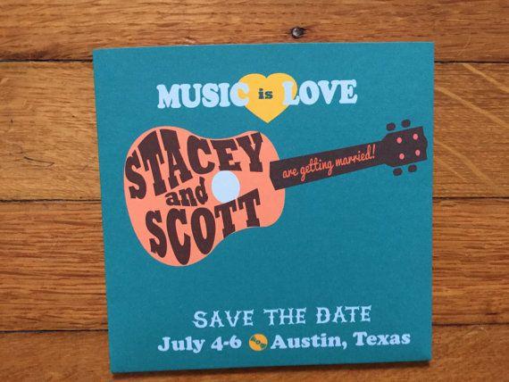 Aangepaste gitaar bruiloft of verjaardag CD door RockPaperHandmade
