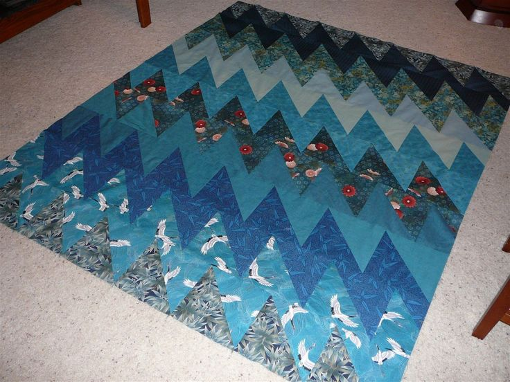 A quilt top made with the All That Jazz pattern by Cynthia Brunz Designs (Available on Craftsy)