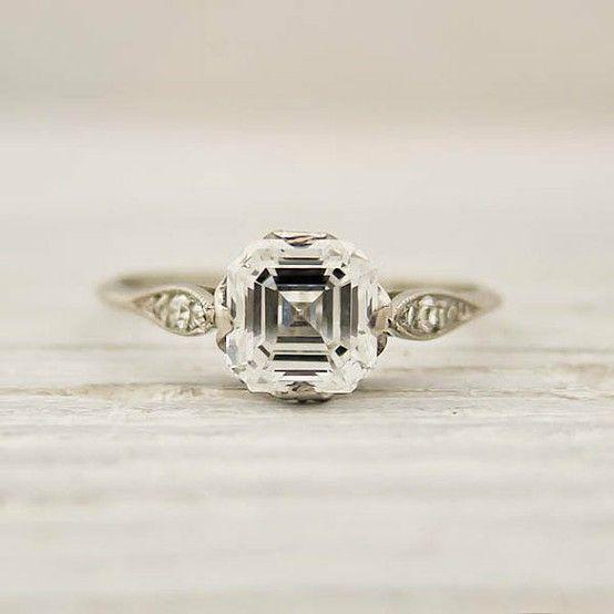 17 Best ideas about Asscher Cut Diamond Ring on Pinterest