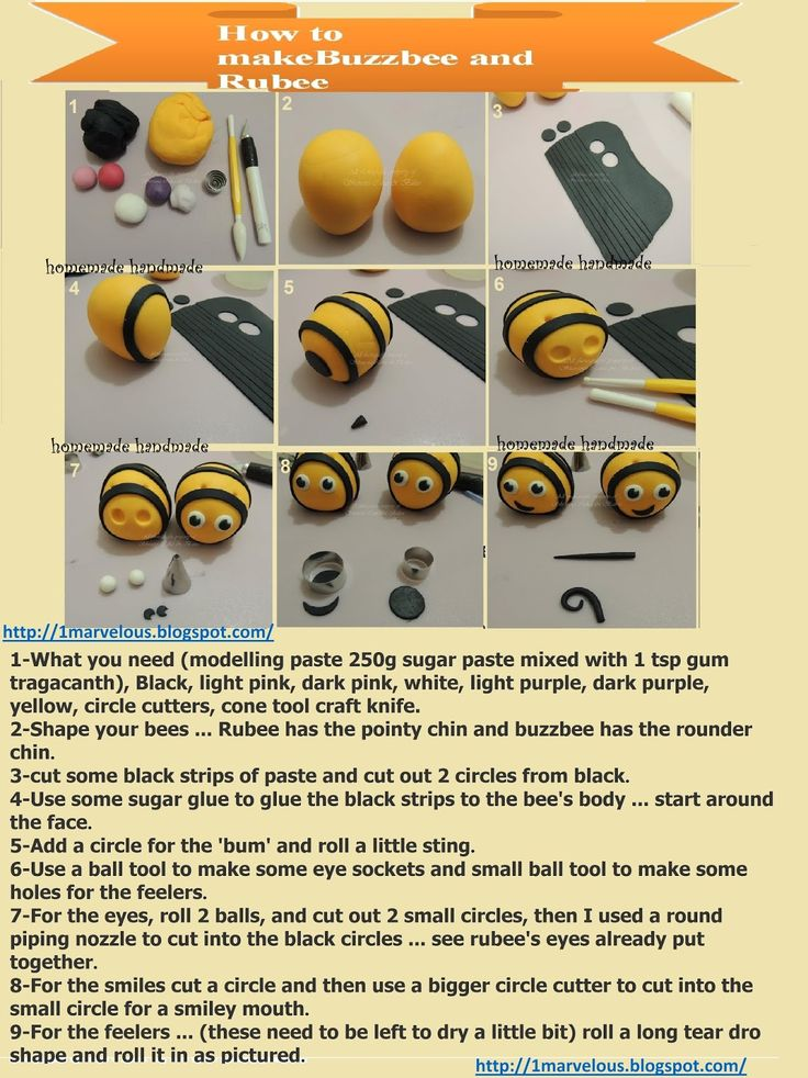 Homemade handemade :cupcake decorating buzzbee and rubee | 1marvelous