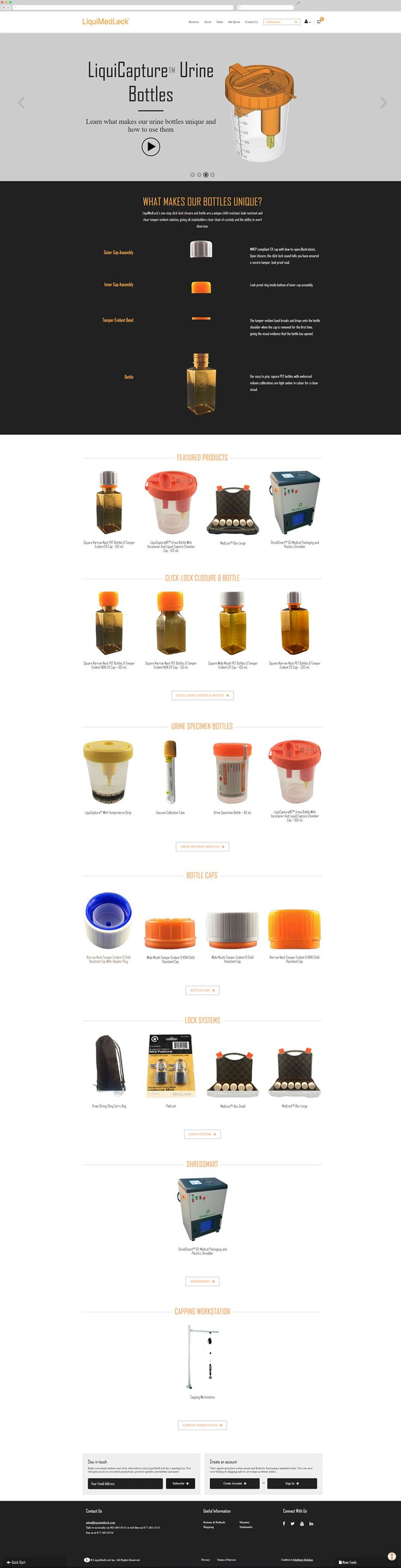 LiquiMedLock Compliance Packaging Website