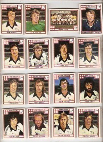 Derby County Panini 78 (1978) football sticker set