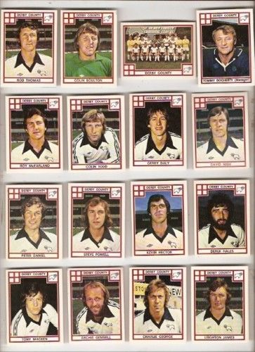 Derby County Panini 78 (1978) football sticker set
