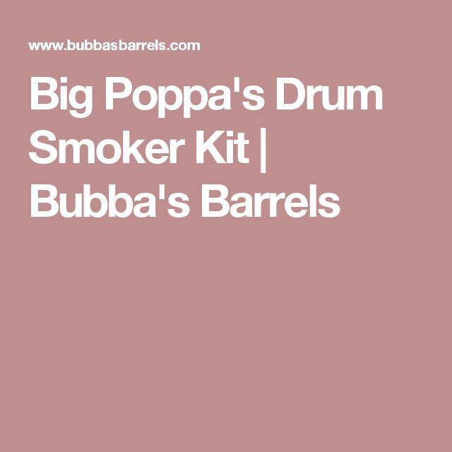 Big Poppa's Drum Smoker Kit | Bubba's Barrels