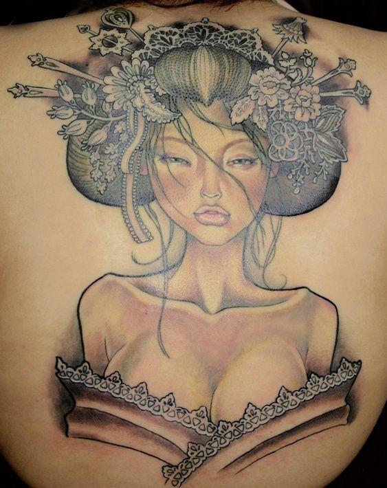 Veja uma seleção de fotos de tatuagens de Geishas para quem adora tatuagem oriental e a cultura milenar das mais belas mulheres japonesas.