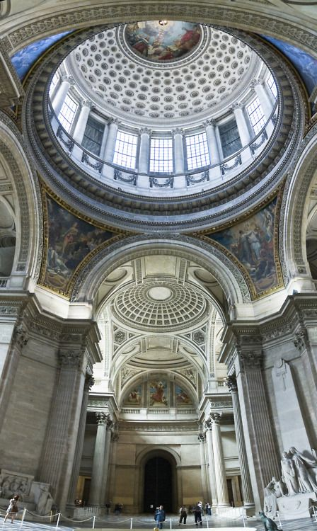 The stunning interior of the Pantheon in #Paris - one of the must see sights in the Latin Quarter!