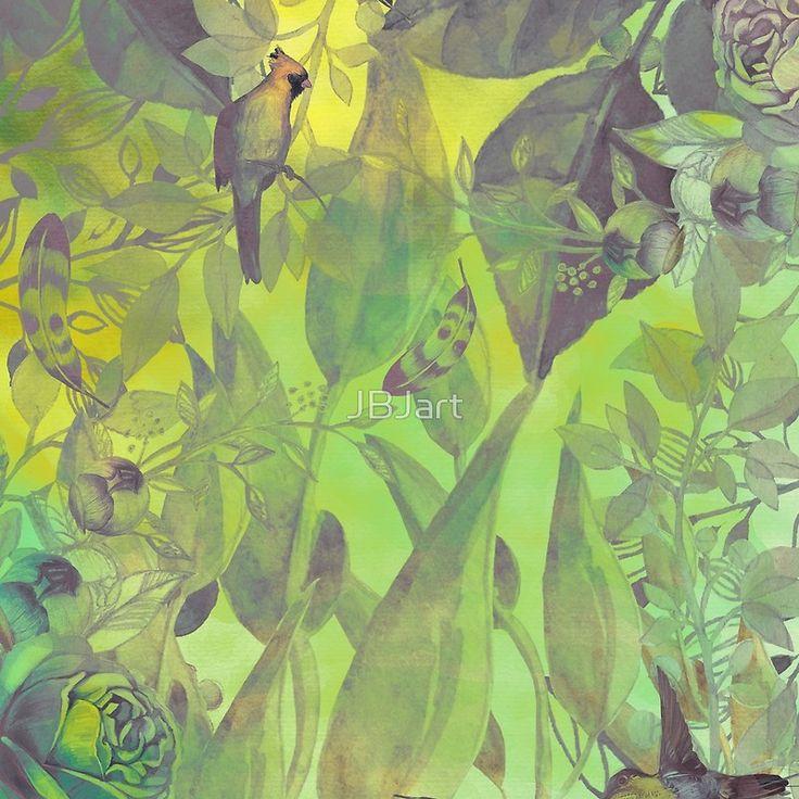 flowers pattern green #flowers #flora #pattern