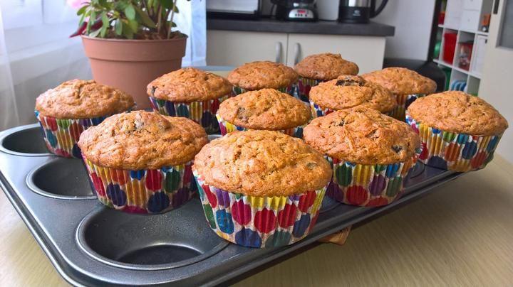 Dýňovo mrkvové muffiny se sušenými švestkami