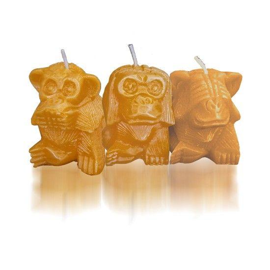 Molde de los Tres monos Sabios (Tres monos Místicos)