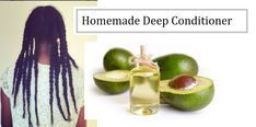 Easy homemade deep conditioners for natural hair growth for black hair & 4c Afro hair. Learn to make your own natural hair remedies at home.