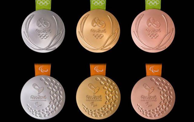 Rio 2016 apresenta as medalhas dos Jogos Olímpicos e Paralímpicos