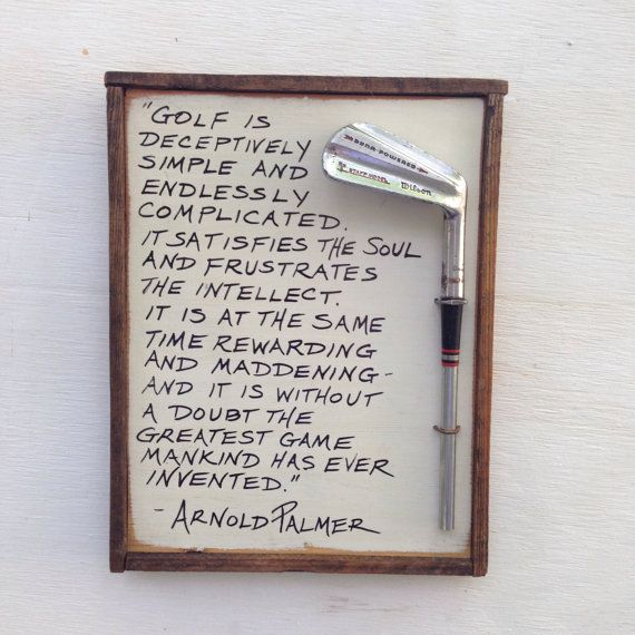 These are one-of-a-kind gifts for the golfer in your life.  If you are looking for the perfect gift for the golfer who has everything, look no further.  Each plaque is made with vintage salvaged wood and a vintage golf club head with humorous or inspirational quotes. Theres also a second listing for this item in my store with additional quotes, I offer 10 different quotes, with a choice of two colors for each.  These are roughly 9 x 12 in size, and have a saw tooth hanger mounted on the…