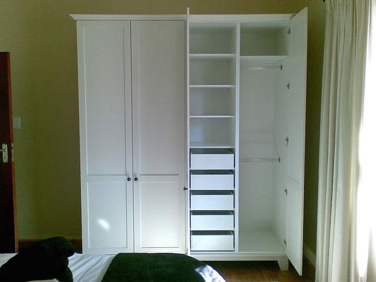 Charming Free Standing Wardrobe With Internal Drawers