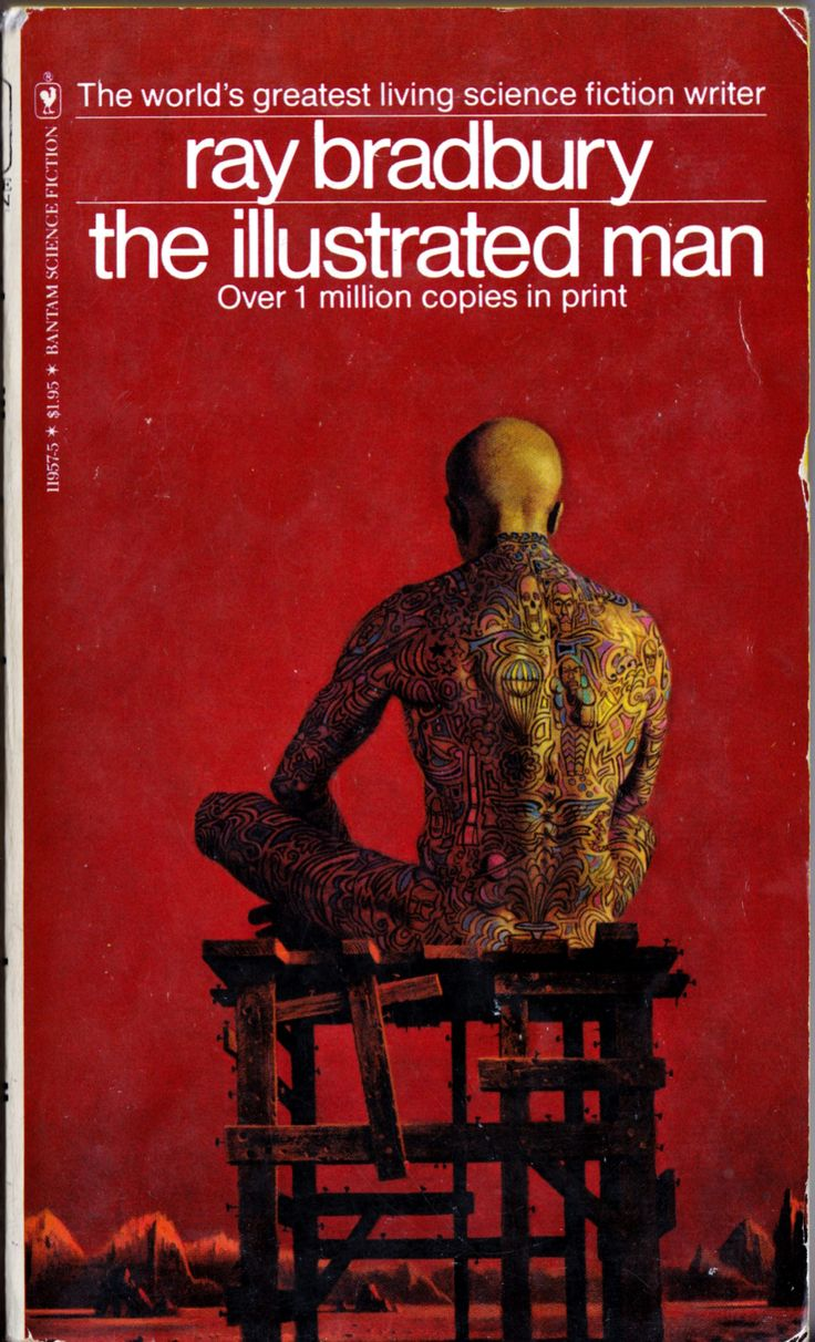 Illustrated Man Book Cover ~ Best vintage sci fi fantasy book covers images on