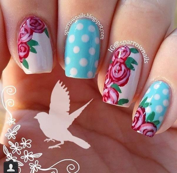 Roses, rosen nägel, nails