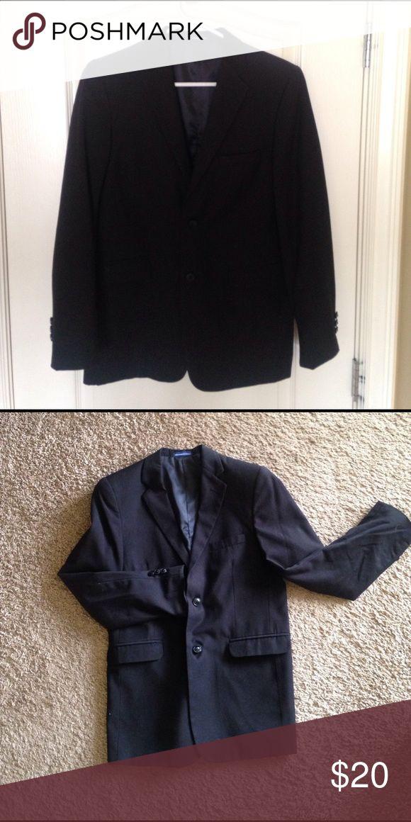Mens/Boys Suit Jacket Chaps men's/ boys black suit Jacket.  Size 18. polyester/ rayon Chaps Suits & Blazers Suits