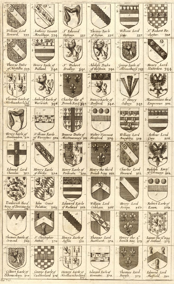 Arms of knights of the Garter. 333-380, 'Arms of knights of the Garter', Wenceslas Hollar, 1672-1677.